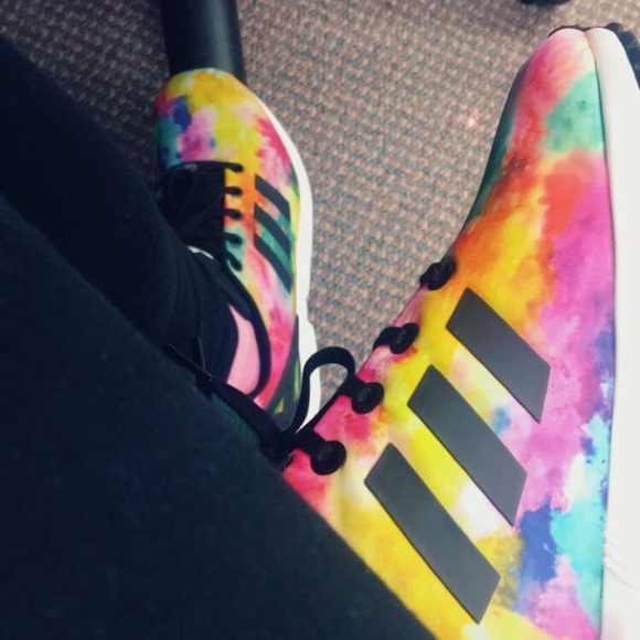 le adidas zx flusso tie - dye poshmark
